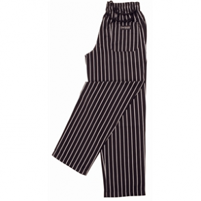 Unisex Easyfit Pants - Black And White Stripe