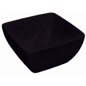 Curved Black Melamine Bowl 11in (Sold Single)