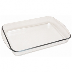 Pyrex Rectangular Glass Roaster Dish 400mm