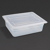 Vogue Polypropylene 1/2GN Pan with Lid 100mm