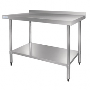 Vogue Stainless Steel Table with Upstand 1800mm