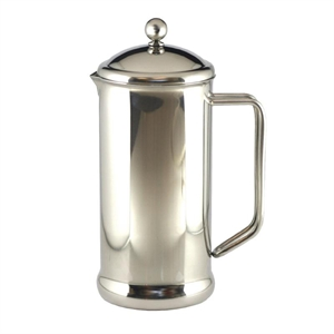 Cafetiere Stainless Steel Polished Finish 6 Cup