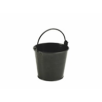 Galvanised Steel Serving Bucket 10cm Dia Black