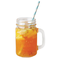 Olympia Handled Mason Jar 450ml (12Per Case)