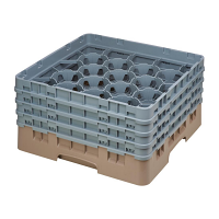Cambro Camrack Beige 20 Compartments Max Glass Height 215mm