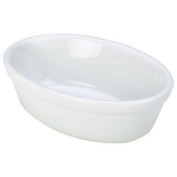 Royal Genware Oval Pie Dish 16cm White