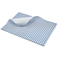 Greaseproof Paper Blue Gingham Print 35 x 25cm