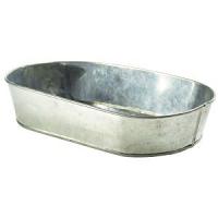 Galvanised Steel Serving Platter 24X15cm