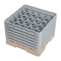 Cambro Camrack 25 Compartment Glass Rack Beige - Max Height 298mm