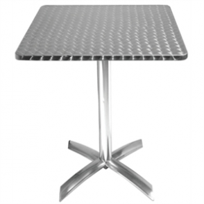 Bolero Square Flip Top Bistro Table St/St - 60cm