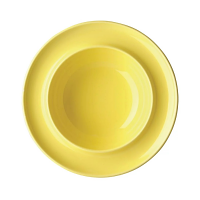 "Olympia Heritage Yellow Raised Rim Bowl 8"" 205mm (Box 4)"