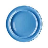 "Olympia Kristallon Heritage Blue Raised Rim Plate 10"" (Box 4)"