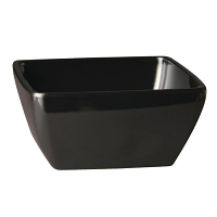 Pure Square Bowl Melamine Black - 190x190mm