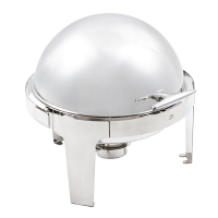 Paris Deluxe Round Roll Top Chafer Set - 6Ltr