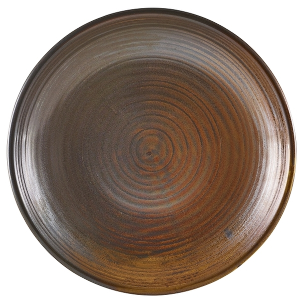Terra Porcelain Rustic Copper Deep Coupe Plate 25cm