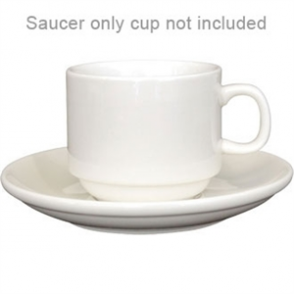 Ivory Stacking Saucer - Fits 206ml Teacup U106 (Box 12)