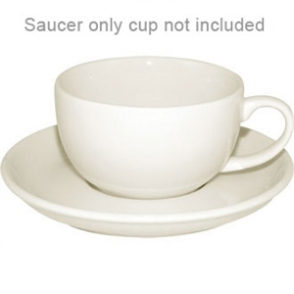 Ivory Espresso Saucer - Fits 110ml U108 (Box 12)