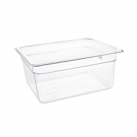 Vogue Polycarbonate 1/2 Gastronorm Container 150mm Clear