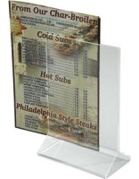 Clear Acrylic Menu Holders