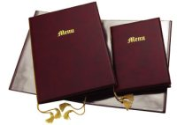 PVC & Leatherette Menu Covers