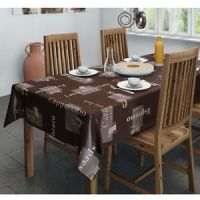 PVC Wipe Clean Cappuccino Table Cloth