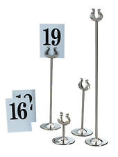 Table numbers, Stands and Signs