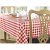 Tablecloth Red Check - 1370x1370mm 54x54