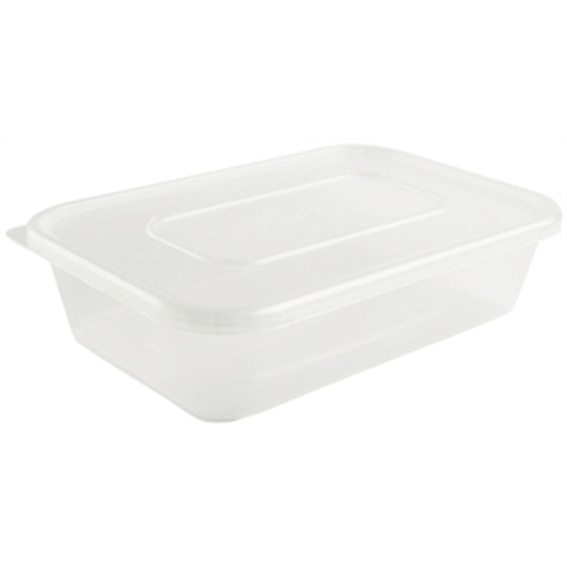 Plastic Microwave Container (Box 250) Small 500ml - Ireland