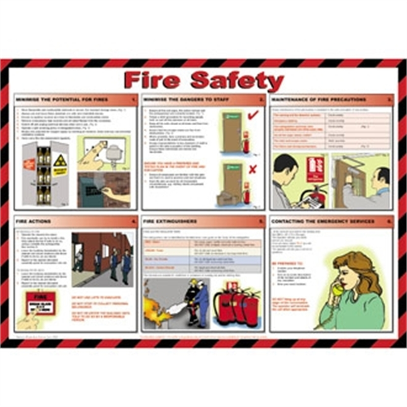 Fire Safety Poster First Aid Amp Fire Safety Signs