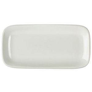Royal Genware Rectangular Rounded Edge Plate 24.5 x 12.5cm