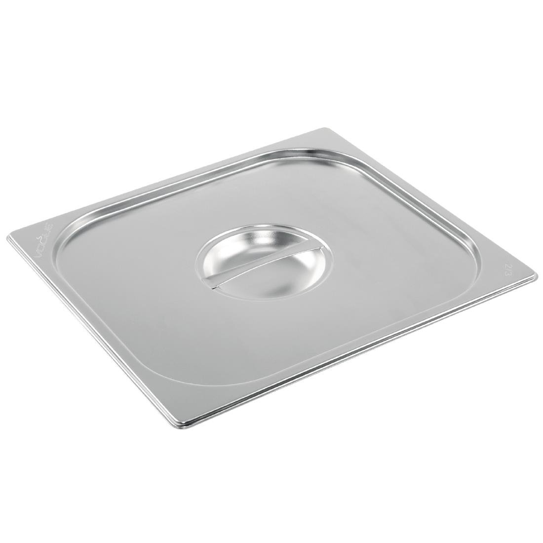 Vogue Stainless Steel 2/3 Gastronorm Lid