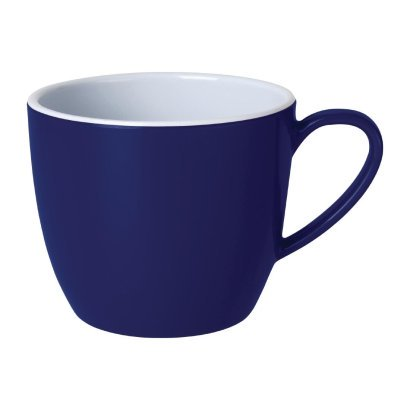 Kristallon Gala Colour Rim Melamine Mug Blue 285ml