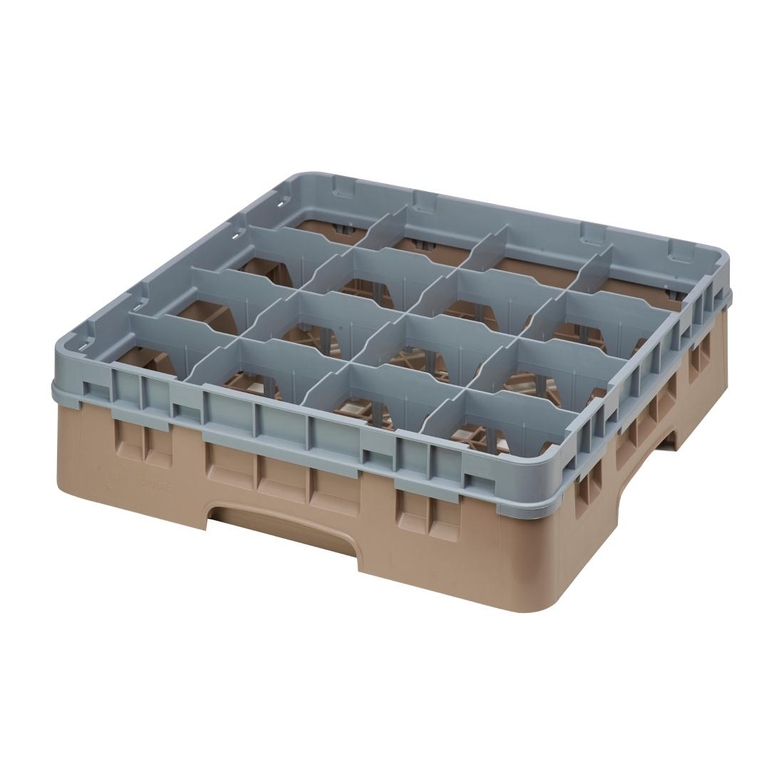Cambro Camrack Beige 16 Compartments Max Glass Height 114mm