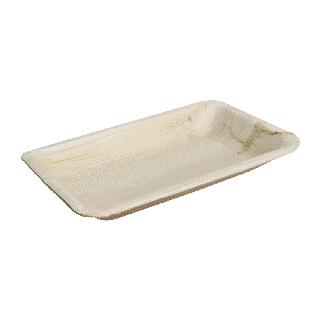 Fiesta Palm Leaf Plate Rectangular 250x160mm (Pack of 100)