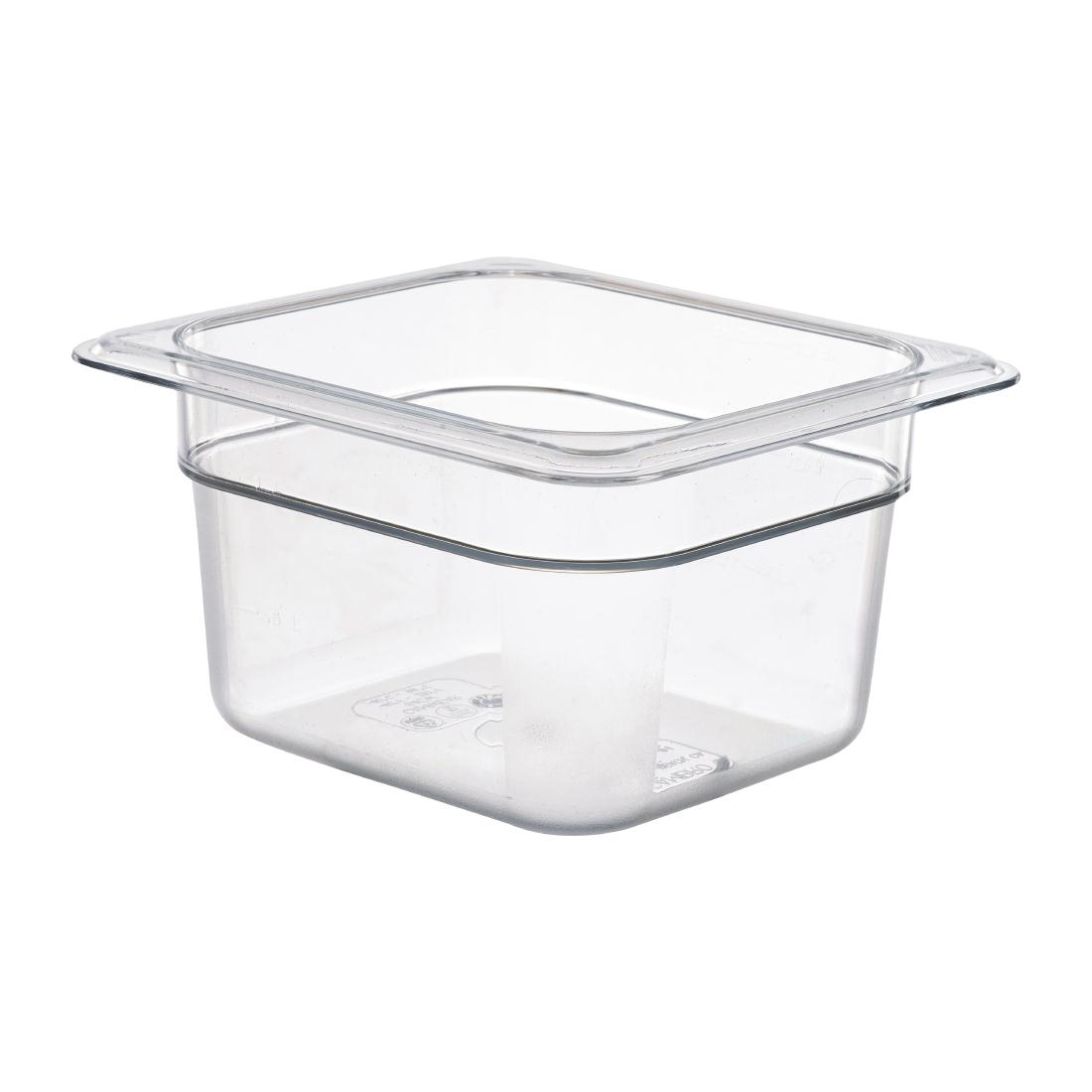 Cambro Polycarbonate 1/6 Gastronorm Pan 100mm