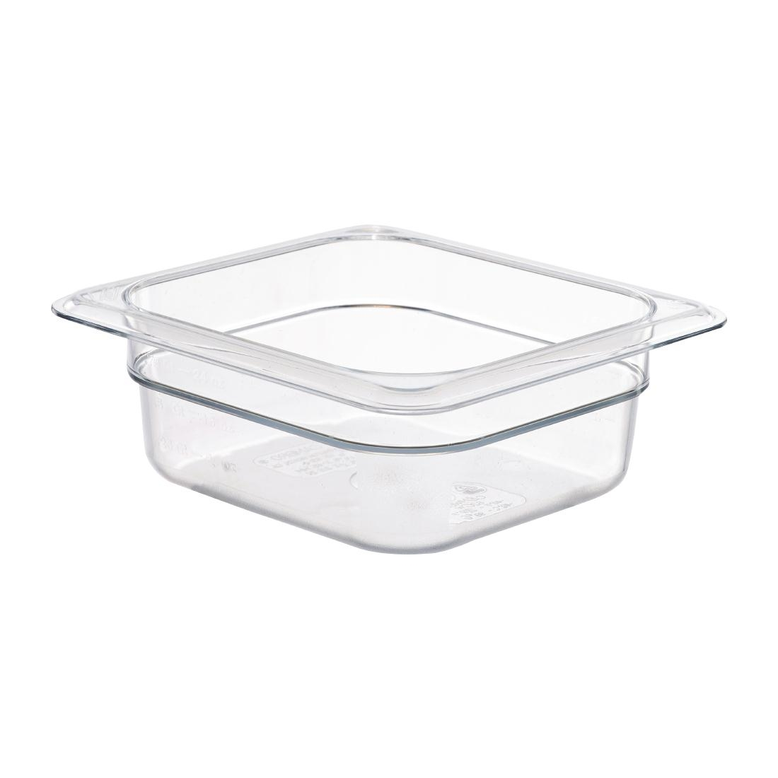Cambro Polycarbonate 1/6 Gastronorm Pan 65mm