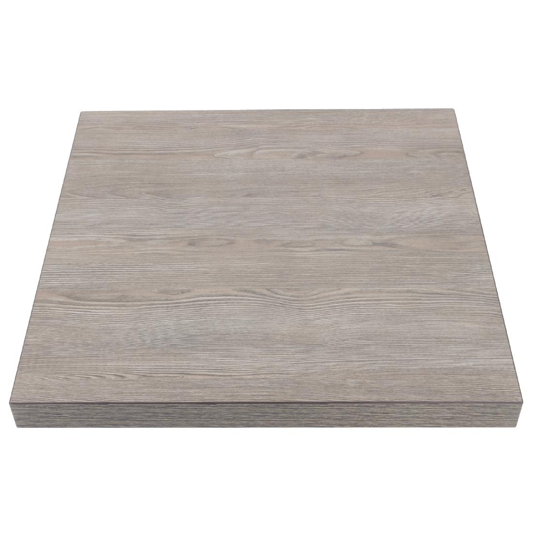Bolero Pre-drilled Square Table Top Vintage Wood 700mm