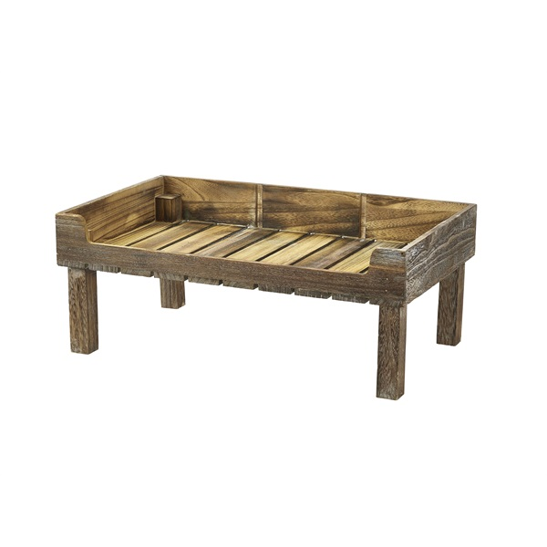 Rustic Wooden Display Crate Stand