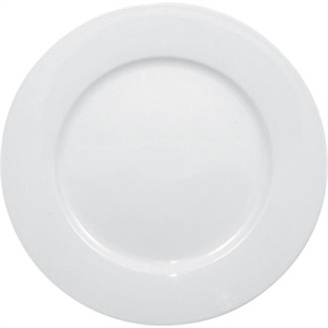 Olympia Whiteware Wide Rimmed Plate - 25cm 10 (Box 12)