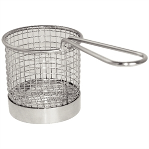 Olympia Chip basket Round with Handle 80mm