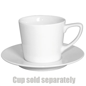 """Olympia Low Latte Saucer White 150(Ø)mm/ 6"""". White. For Low Cup CE536 (Box 12)"""