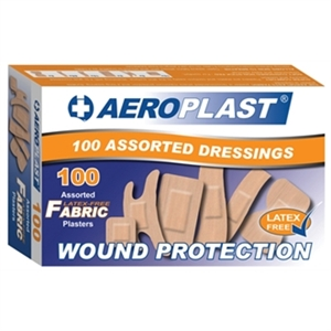 Aeroplast Assorted Latex-Free Plasters (Box 100)