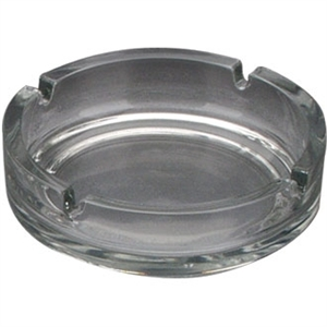 Ashtray Small Clear Stackable 107mm (Box 24)