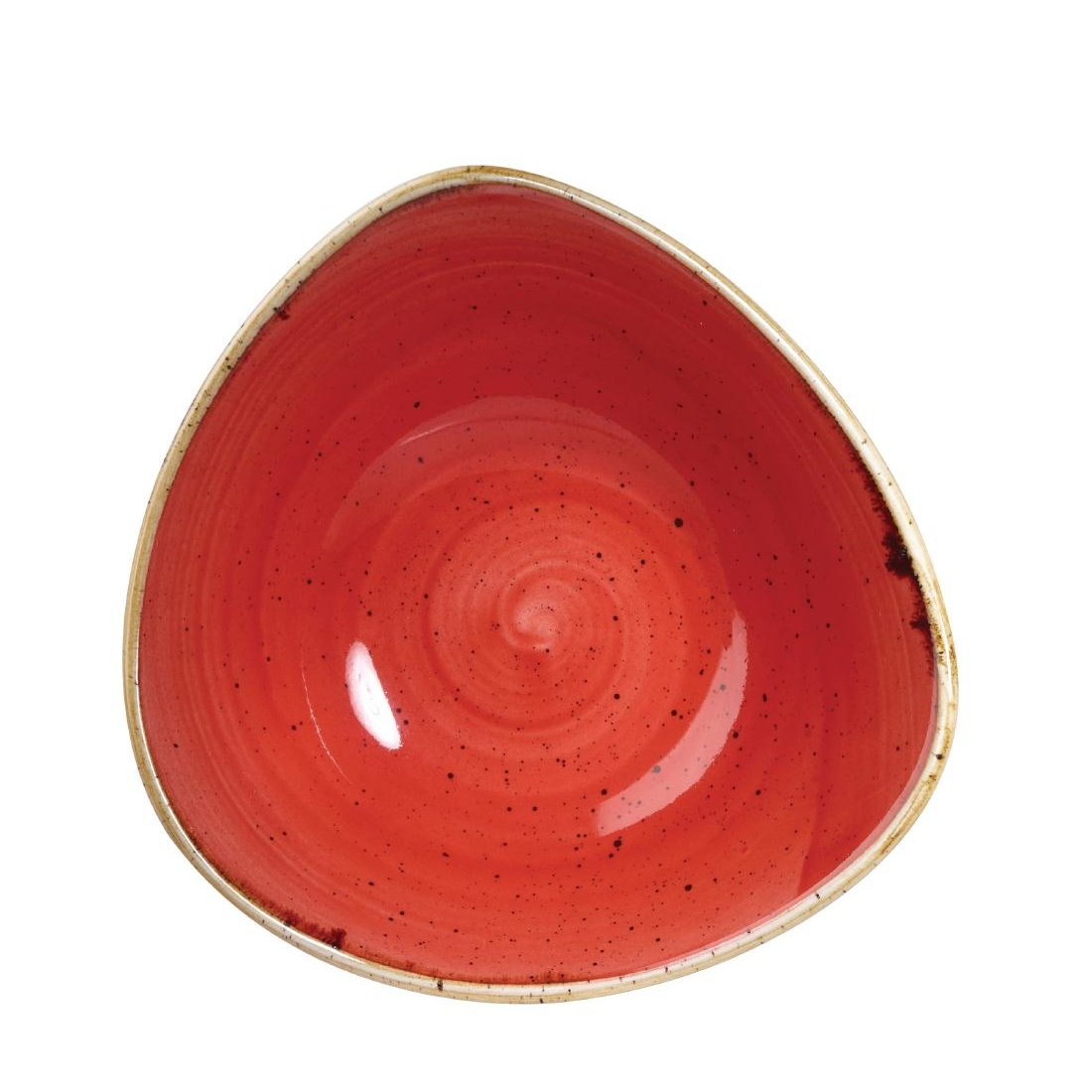 Churchill Stonecast Triangle Bowl Berry Red 235mm