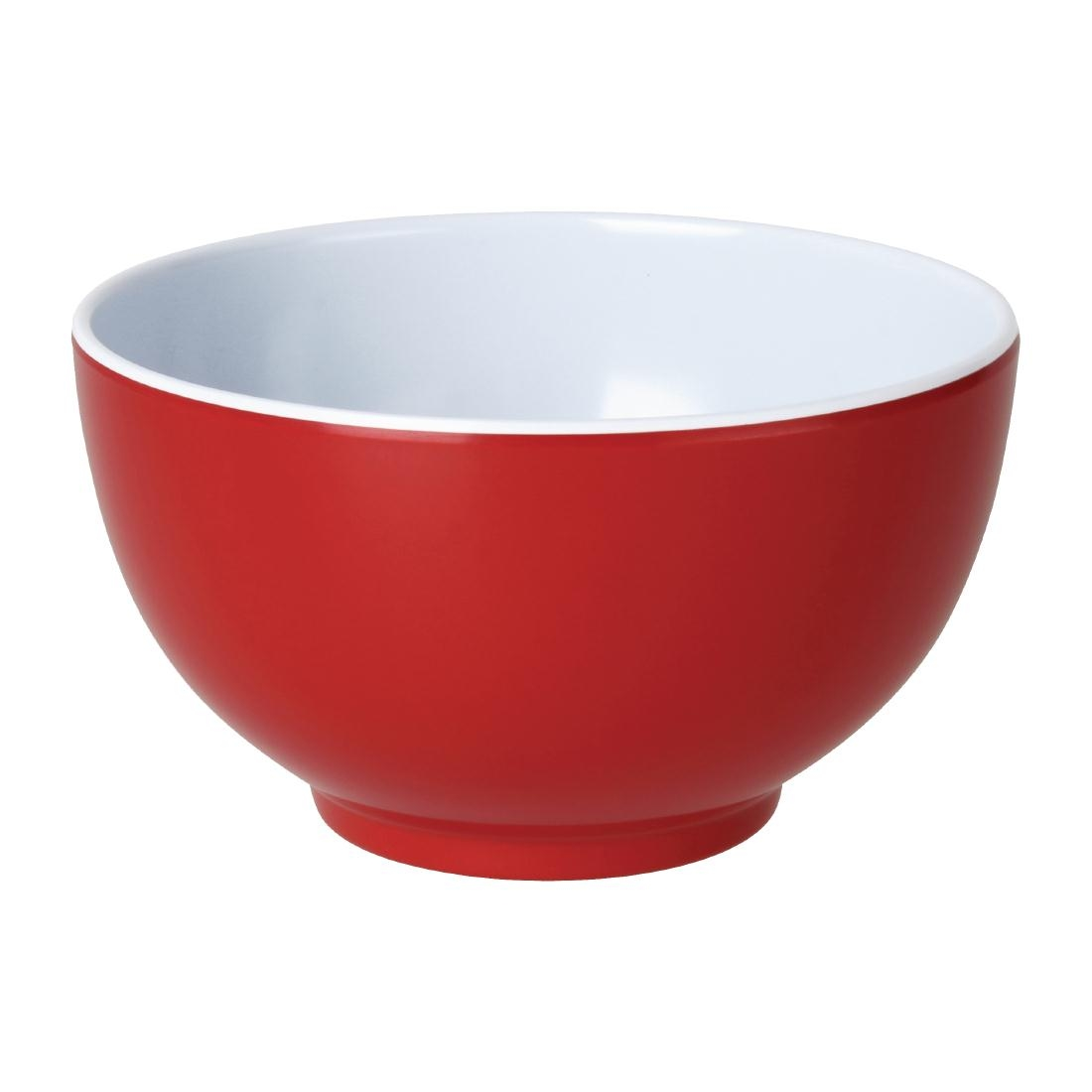 Kristallon Gala Colour Rim Melamine Bowl Red 125mm
