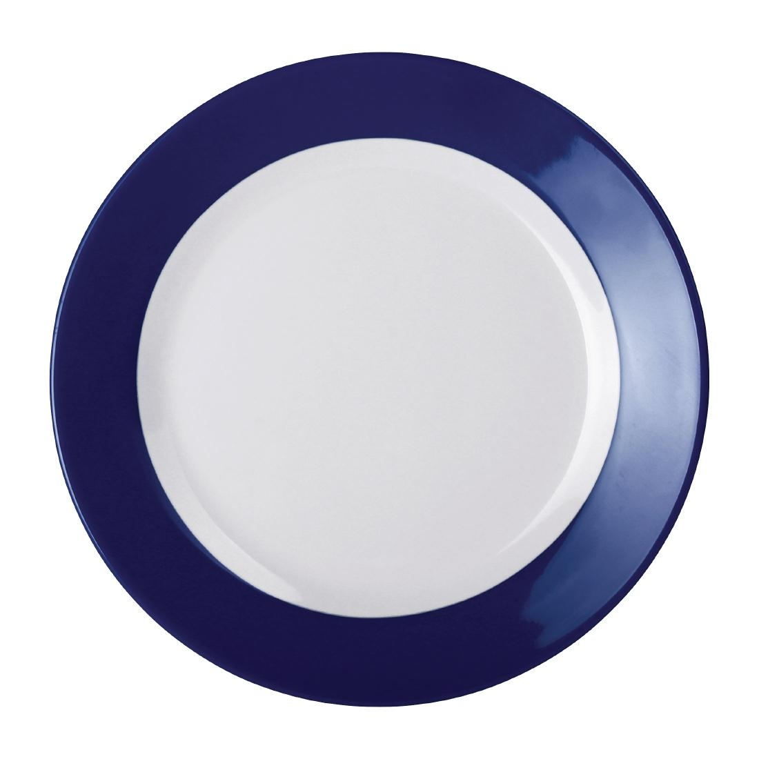 Kristallon Gala Colour Rim Melamine Plate Blue 260mm