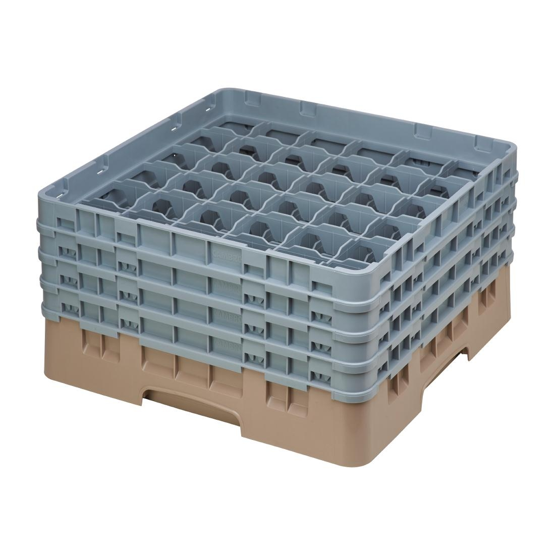 Cambro Camrack Beige 36 Compartments Max Glass Height 215mm