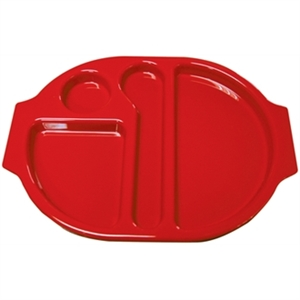 Food Compartment Trays Small. Pack quantity: 10. Red