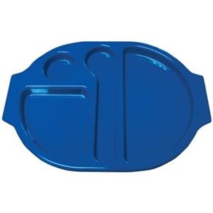 Food Compartment Trays Small. Pack quantity: 10. Blue