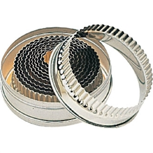 Round Fluted Pastry Cutter Set